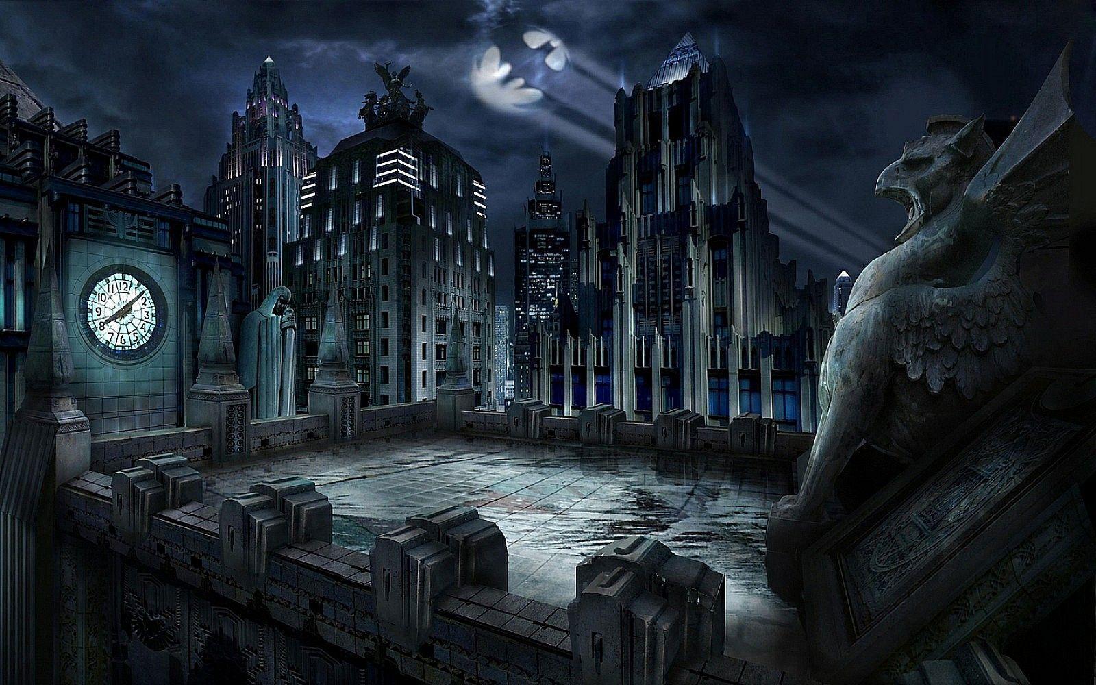 Dark City Backgrounds 1600x1000
