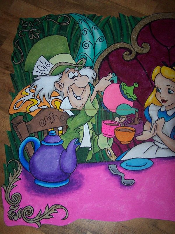 This is a Hand Painted Wallpaper all murals are painted by me wall 600x800