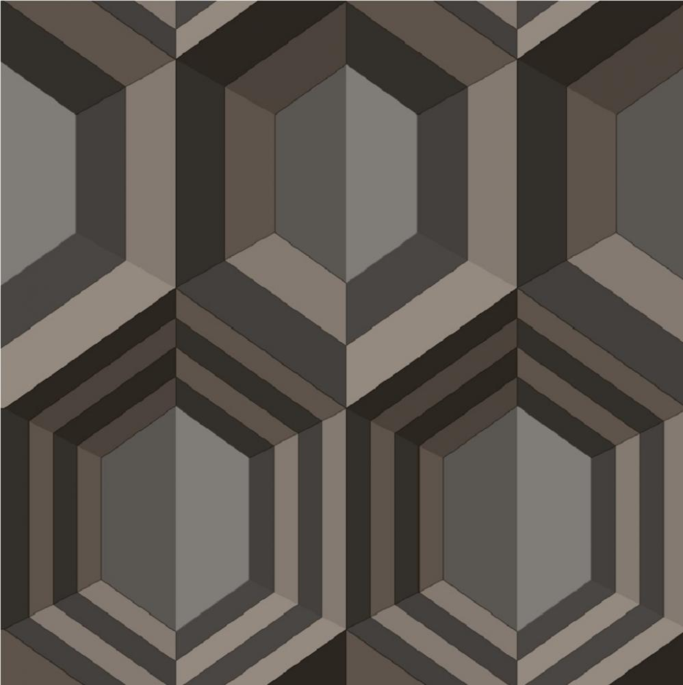 MURIVA HEXAGON 3D EFFECT GEOMETRIC CANVAS TEXTURE VINYL WALLPAPER 998x1000
