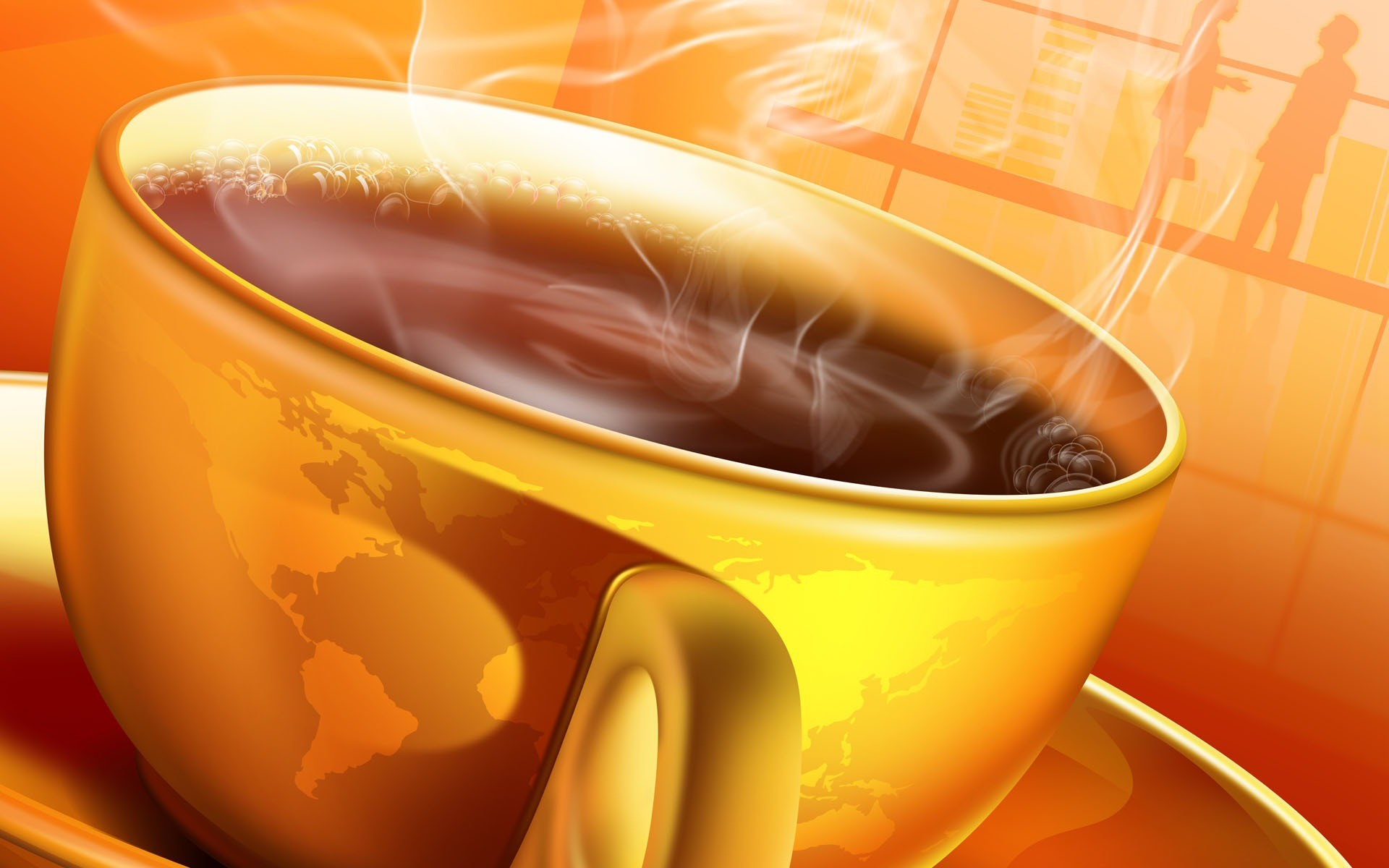 3D Cup of Tea wallpapers and images   wallpapers pictures photos 1920x1200