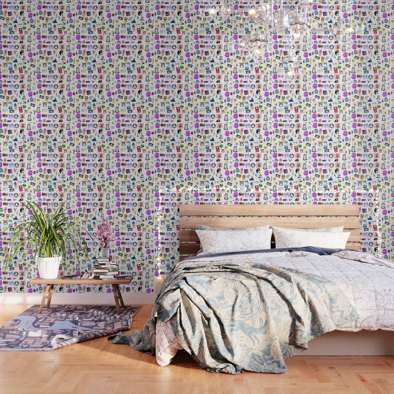 Bring Back the 90s Wallpaper by mineeyesdesign Society6 1500x1500