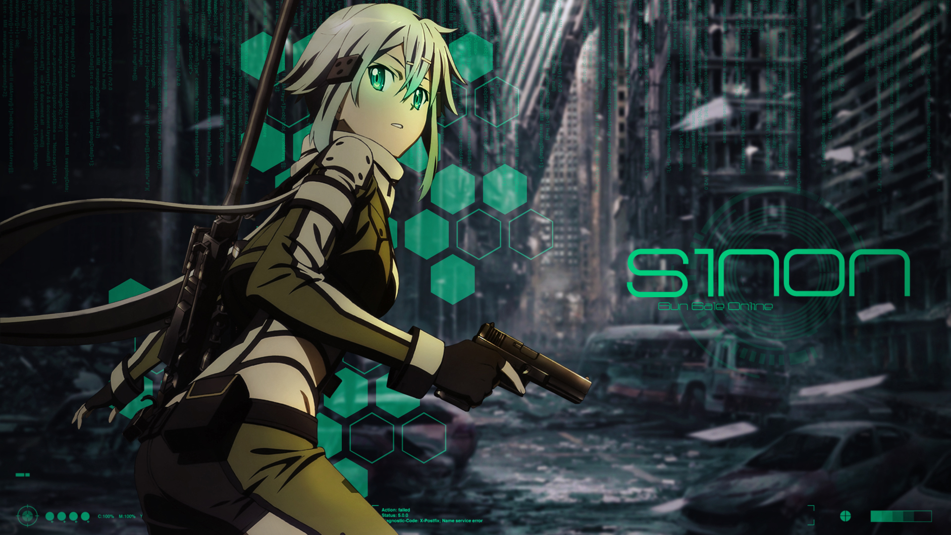 sinon desktop wallpaper by trinexz watch customization wallpaper ...