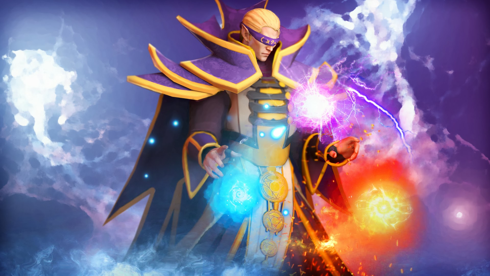 invoker cool elements dota 2 hero hd wallpaper 1920x1080 4y 1920x1080