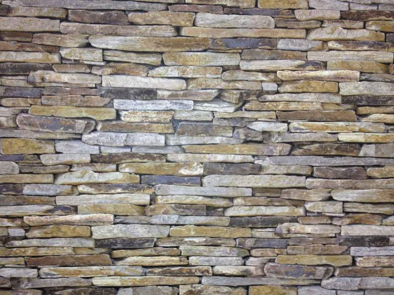... Realistic Dry Stone Wall Brick Effect Feature Wall Wallpaper 914-17