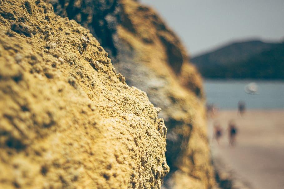 HD wallpaper italy vulcano rock sulfur sicily rock   object 910x607