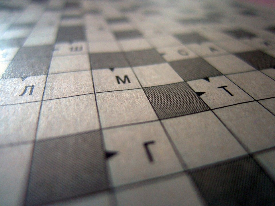 Crossword Puzzle Background Think   photo on Pixabay 960x720