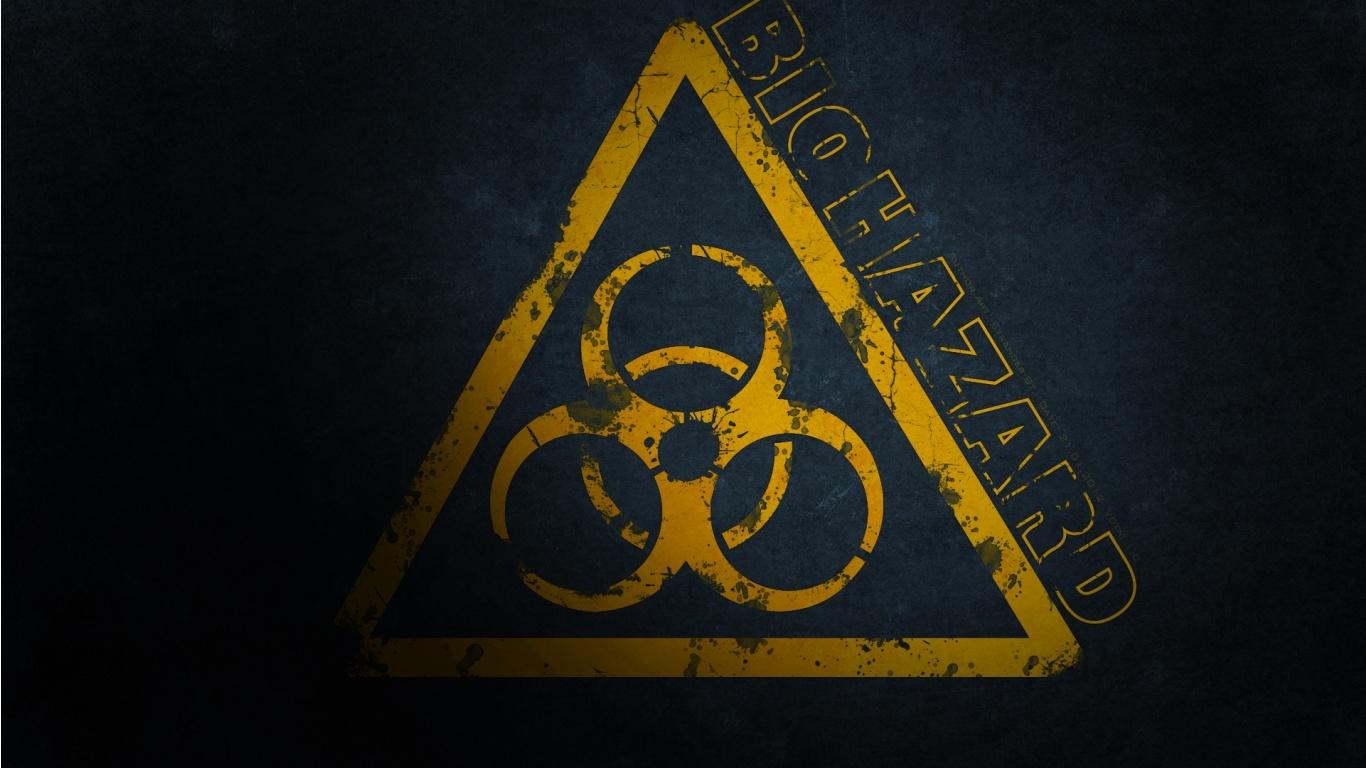 Biohazard Symbol Wallpaper Biohazard sign 1366x768