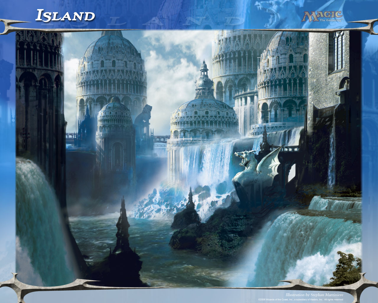 Wallpaper of the Week Island Daily MTG Magic The Gathering 1280x1024