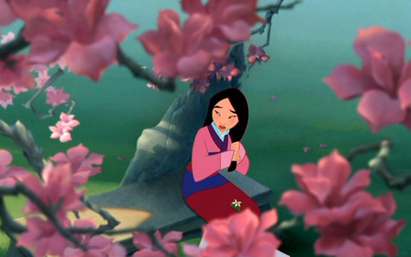 Mulan Sad In The Garden   muIans Wallpaper 39399913 1440x900