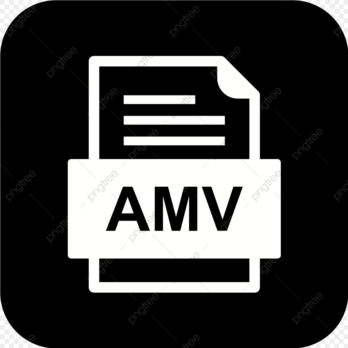Amv File Document Icon Amv Document File PNG and Vector with 1199x1199