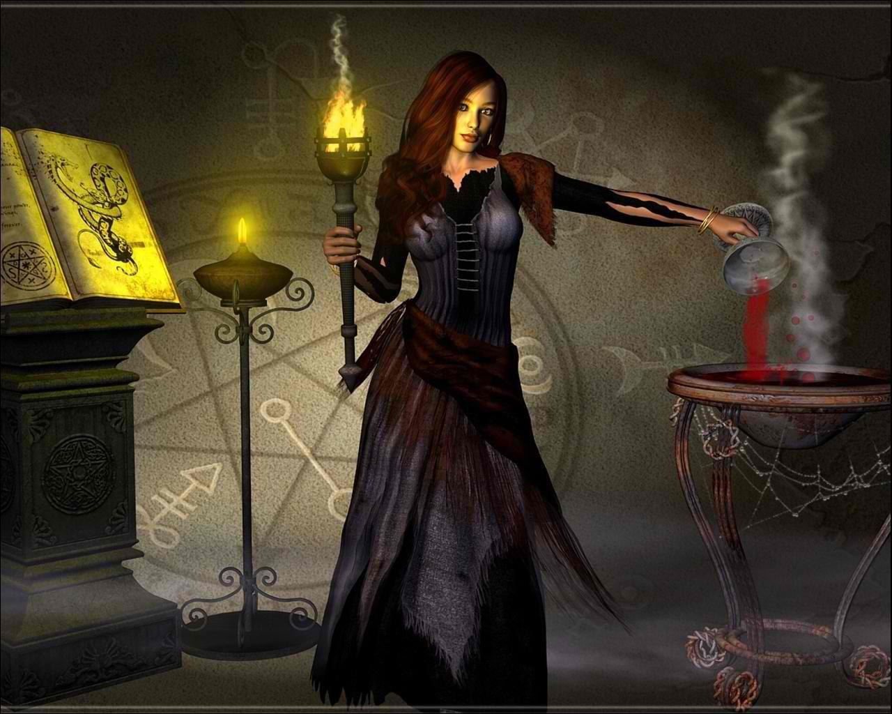 dark witch   After Dark Wallpaper 26579076 1280x1024