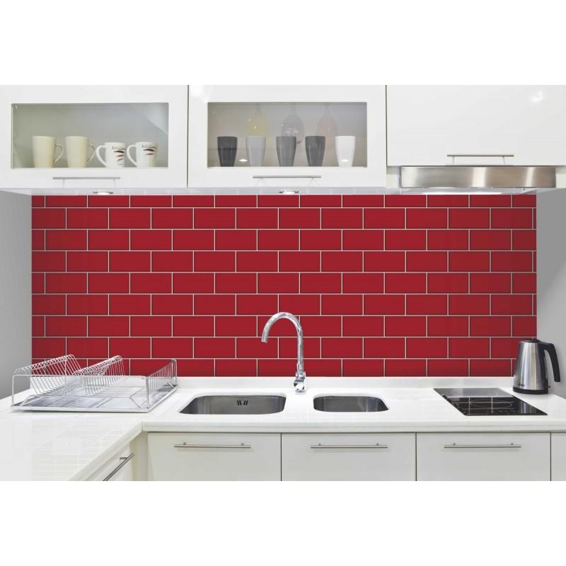 Subway tile look wallpaper wallpapersafari for Tile effect kitchen wallpaper