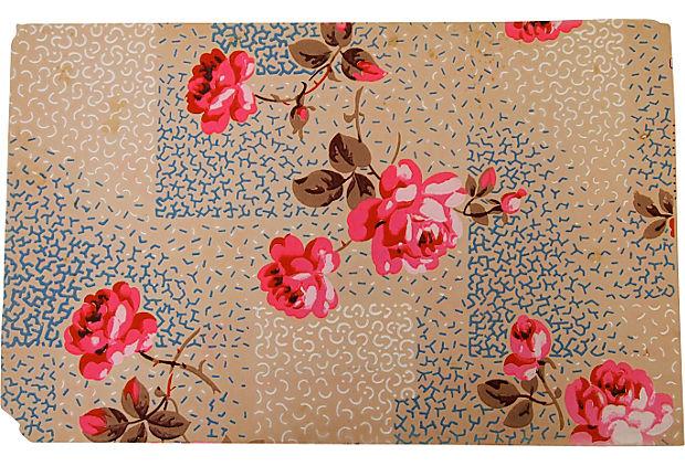Vintage Handpainted Wallpaper Paris One Kings Lane 620x422