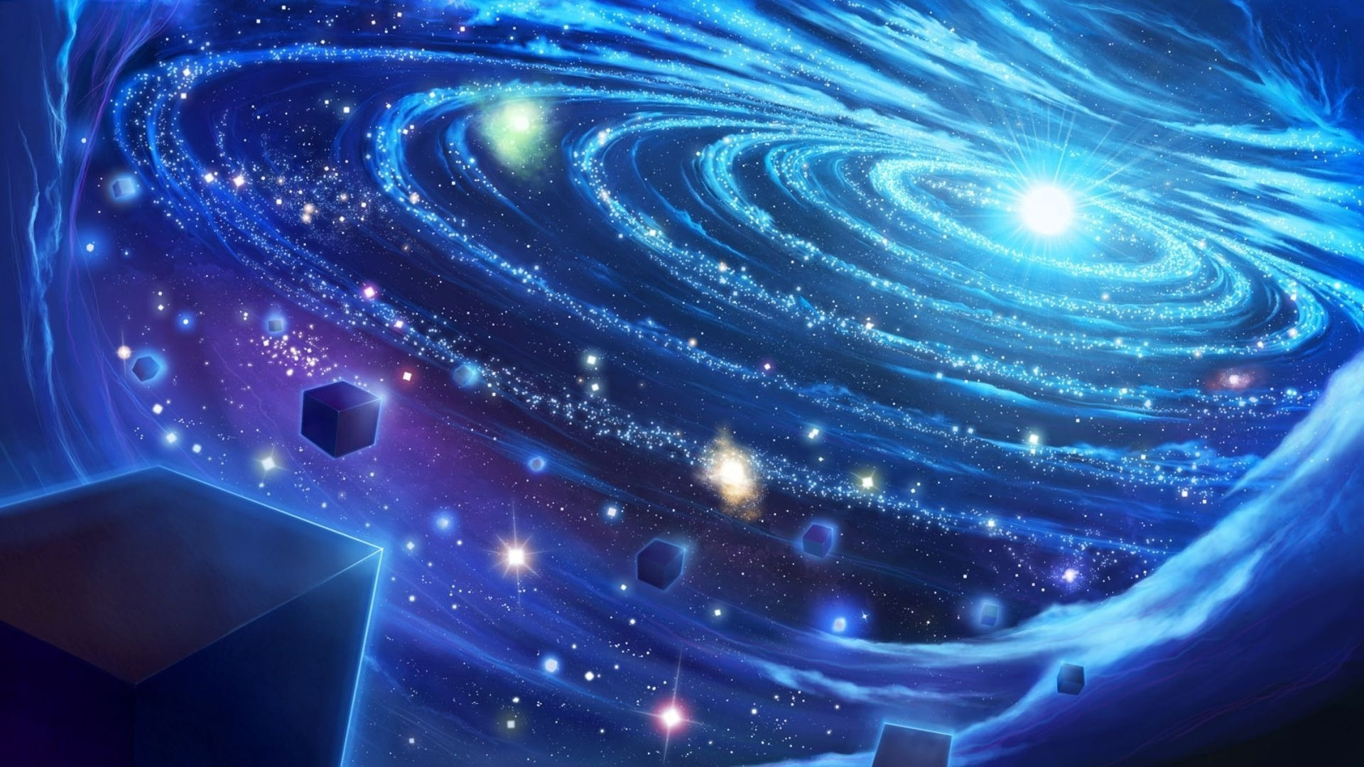 Blue space wallpaper 22917 1920x1080