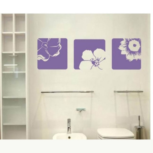 All matching Removable Wallpaper Wall Stickers with Beautiful Flower 500x500