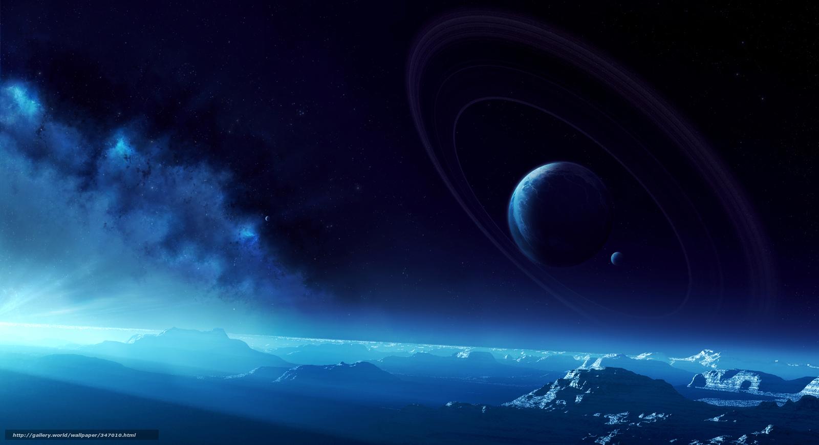 Download wallpaper surface, Planet, Ring, sky free desktop wallpaper ...