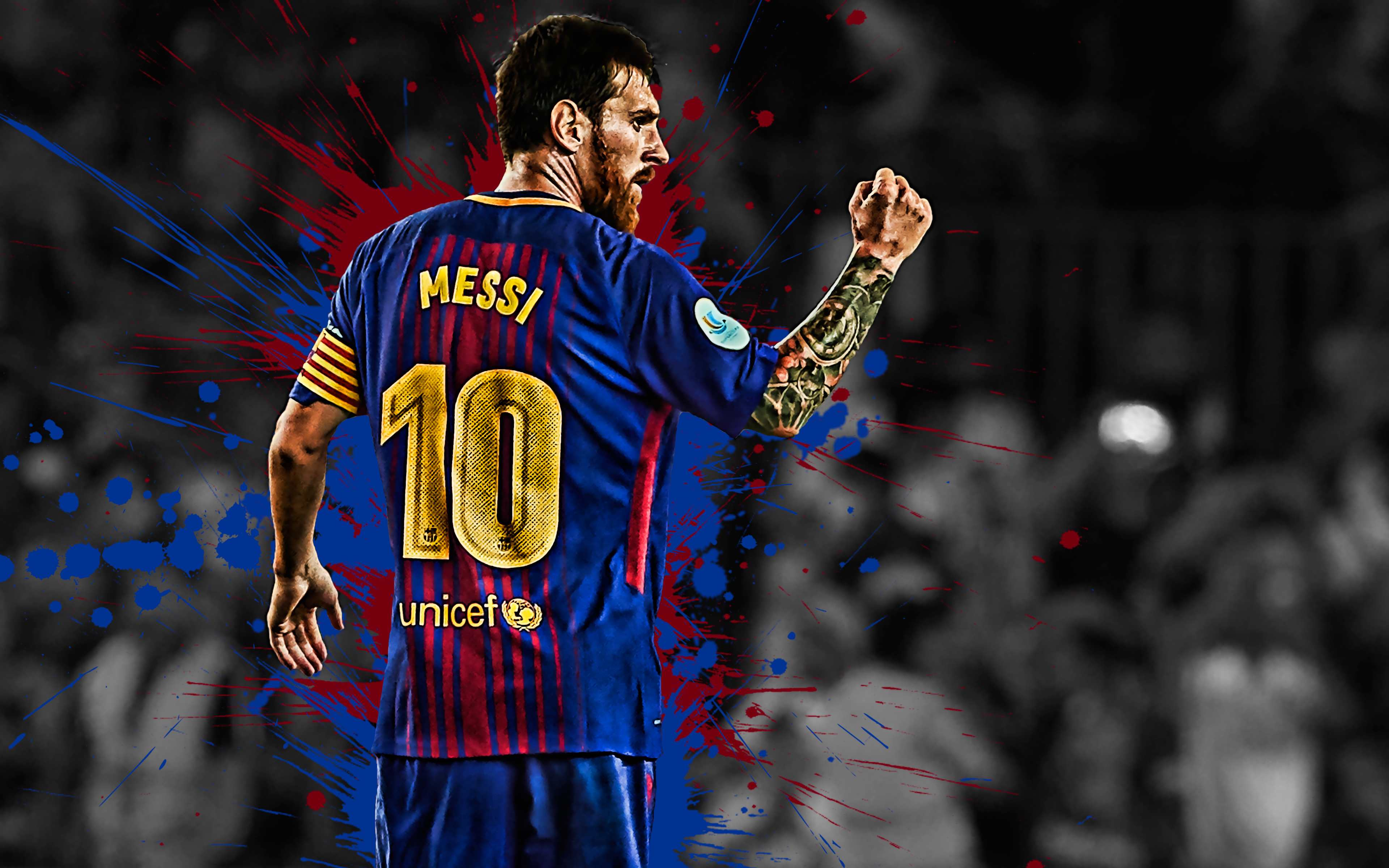 Lionel Messi 4k Ultra HD Wallpaper Background Image 3840x2400 3840x2400