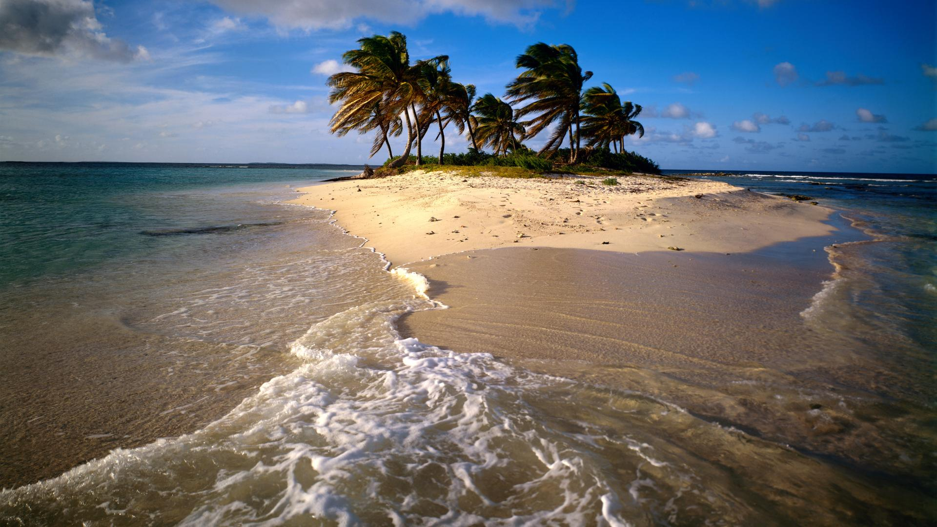 backgrounds desktop caribbean anguilla sandy beach island 1920x1080