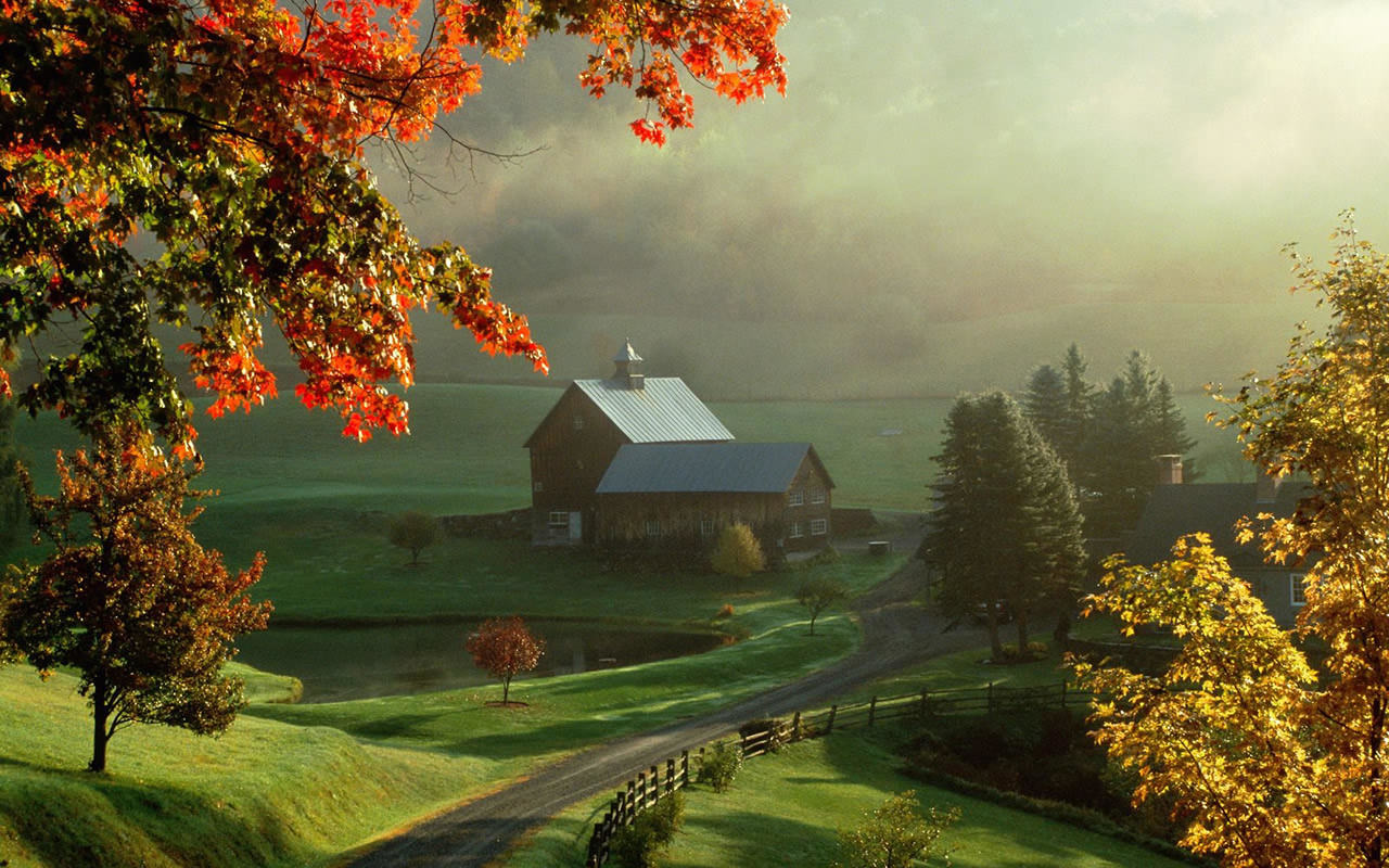 farm house wallpaper 1280x800 0306jpg 1280x800