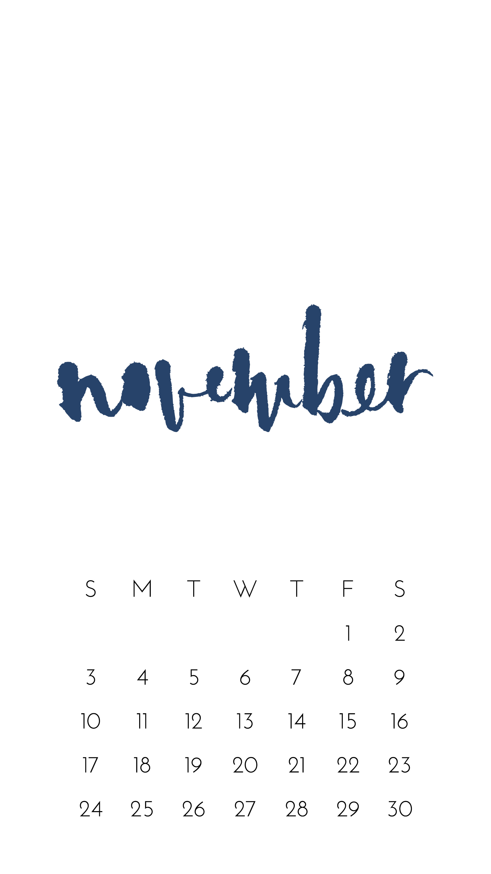 November 2019 Wallpapers and Habit Tracker by Paper Sushi   PaperSushi 1563x2779