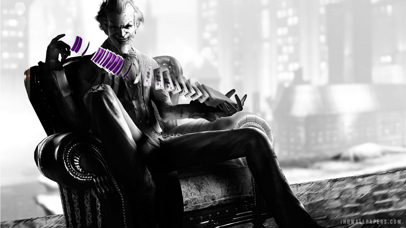 The Joker in Batman Arkham City HD Wallpaper   iHD Wallpapers 1366x768