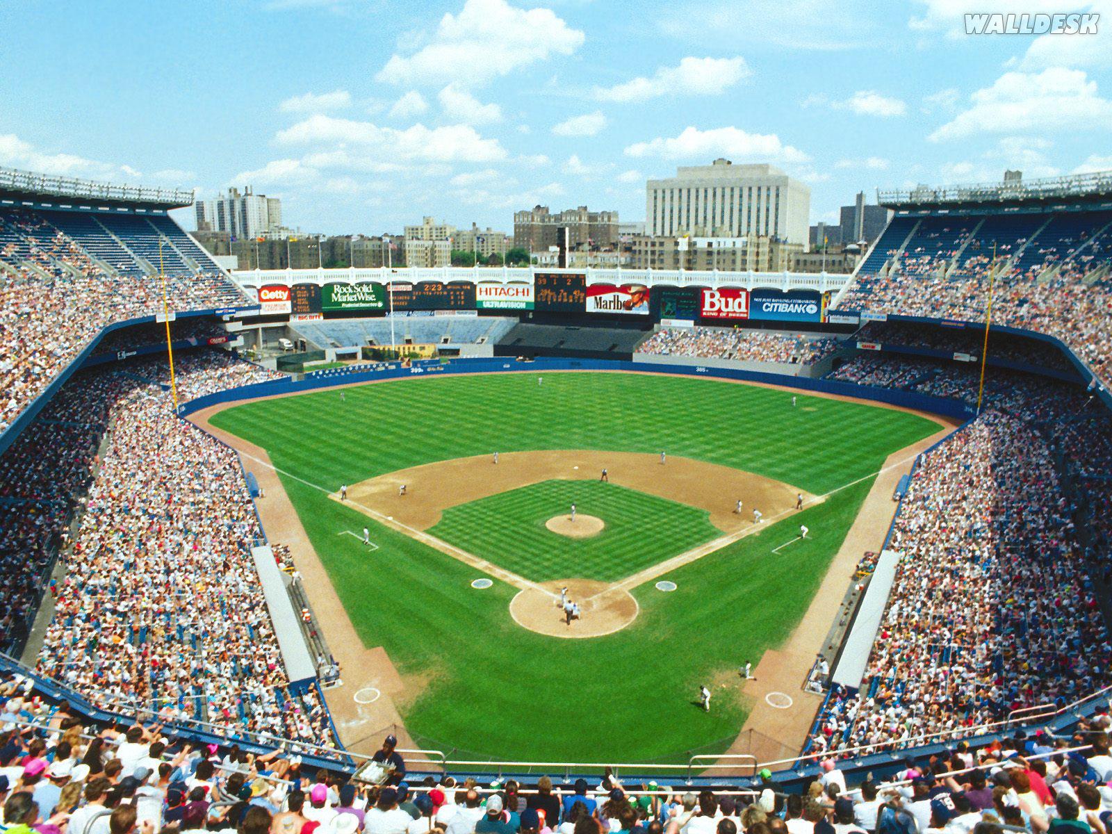 combrfotospapel de parede estadio de baseball em nova yorkasp 1600x1200