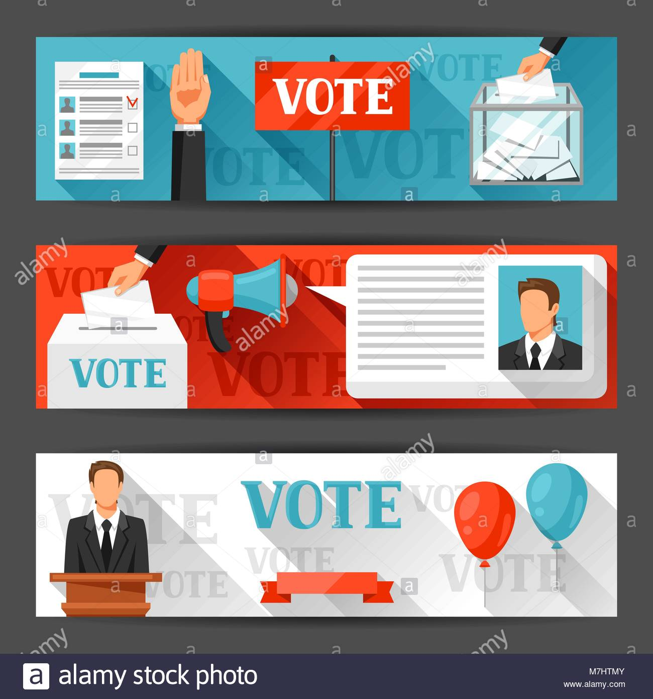 Vote political elections banners Backgrounds for campaign 1300x1390