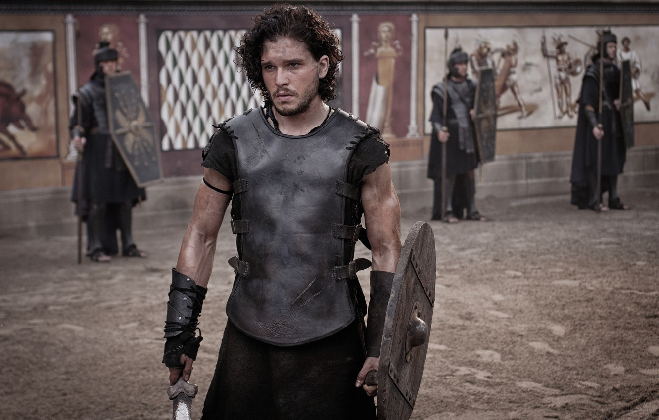 Wallpaper arena Gladiator Kit Harington Pompeii Pompeii Kit 1332x850