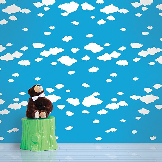 Buy Summer Clouds Removable Peel and Stick WallPaper by WallCandy 544x544