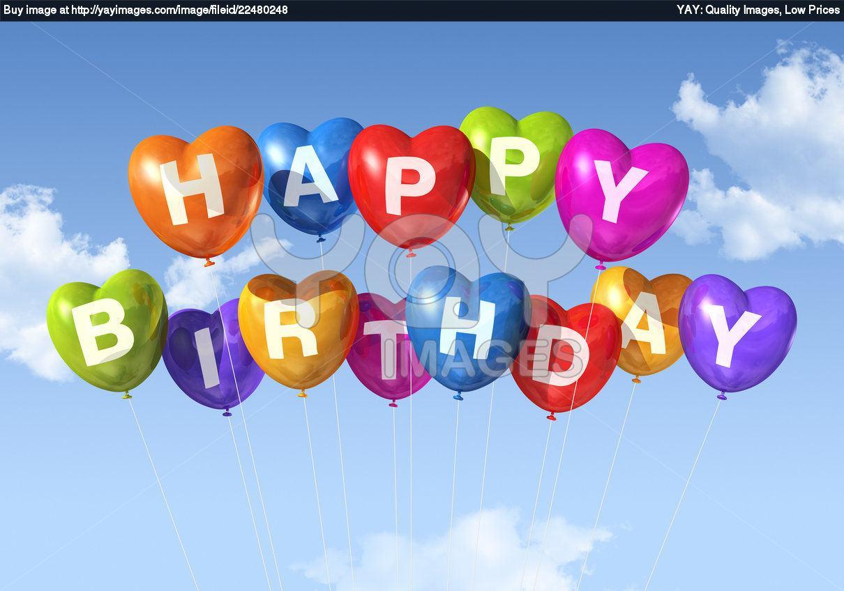 Happy Birthday Balloons Wallpaper Happy birthday heart shape 1210x848