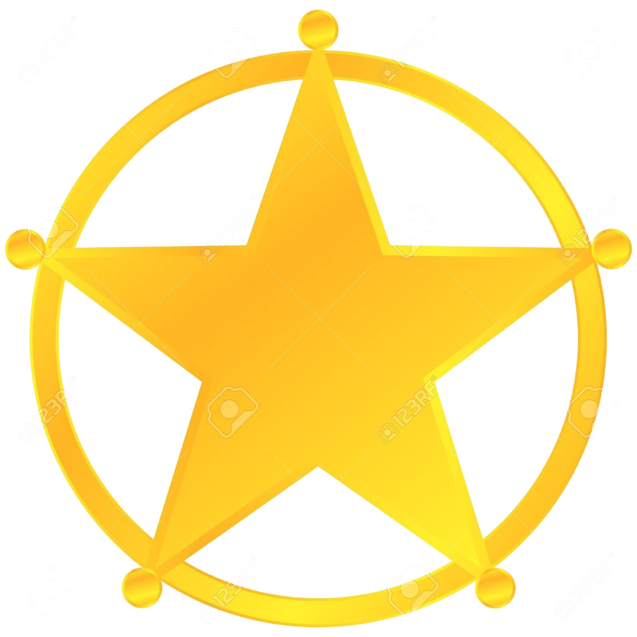 Sheriff Badge Transparent Background PNG Mart 1300x1300