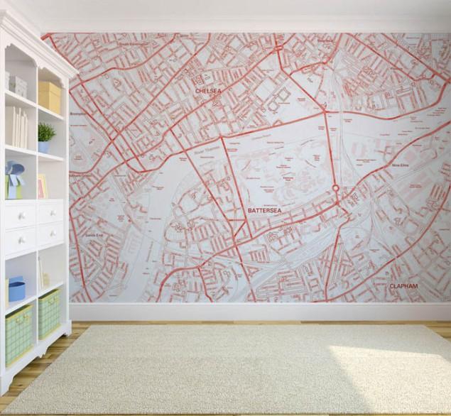Custom Postcode Map Wallpaper   The Design Sheppard 635x586