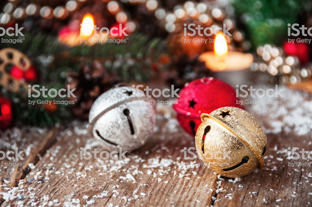 Jingle Bells Closeup Christmas Background Stock Photo   Download 1024x680