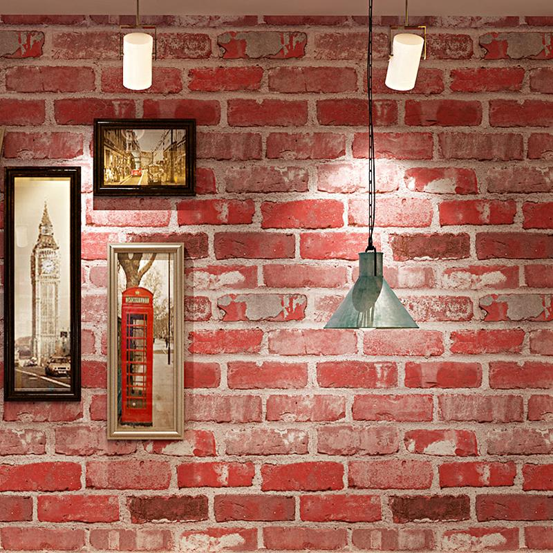 3D Brick Pattern PVC Waterproof Thickened Vinyl Wallpaper For Cafe 800x800