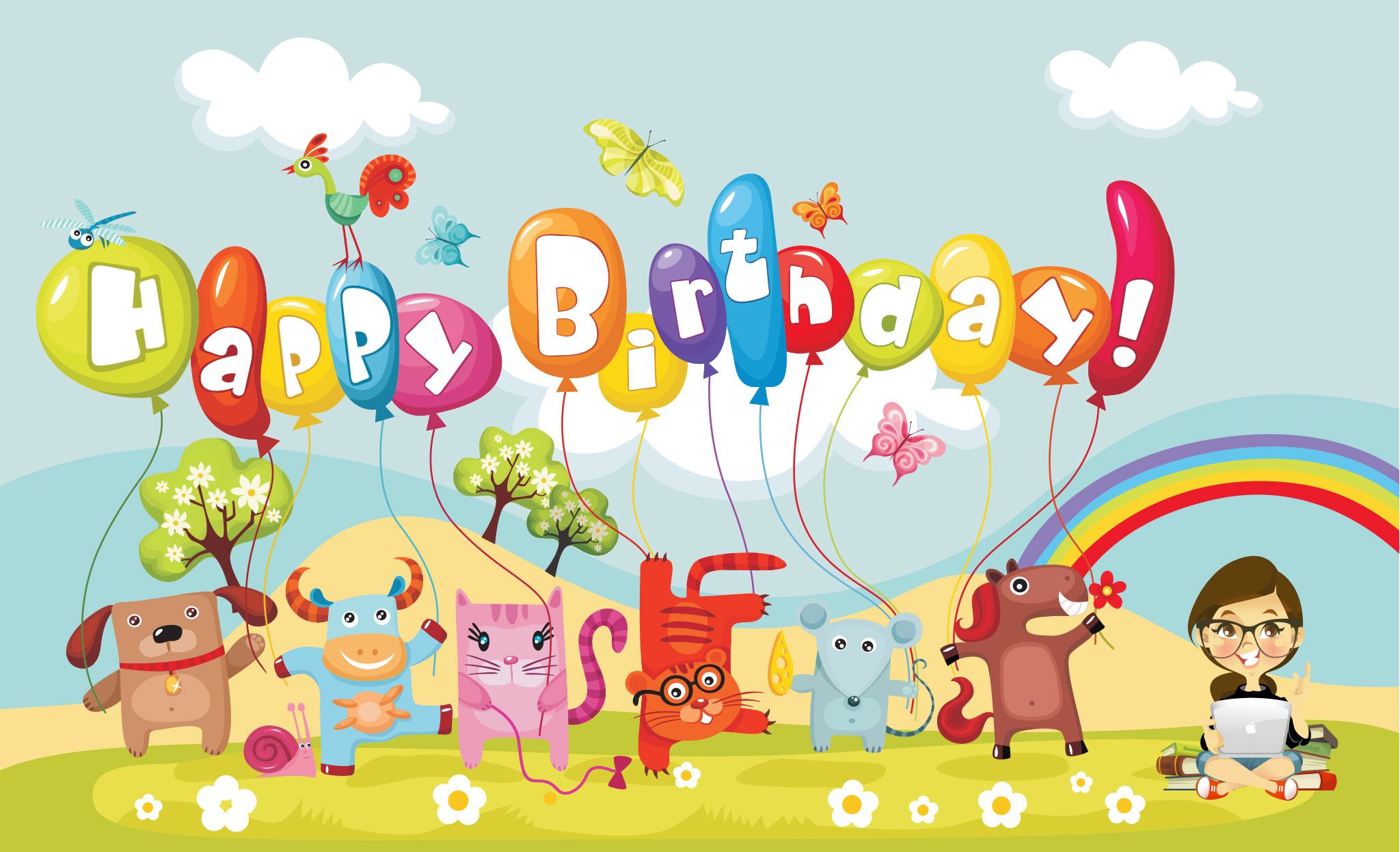 Free download Animated Images Of Happy Birthday Wallpaper HD Base  [2048x1246] for your Desktop, Mobile & Tablet | Explore 49+ Animated Happy  Birthday Wallpapers | Happy Birthday Wallpaper Images, Happy Birthday  Wallpaper,