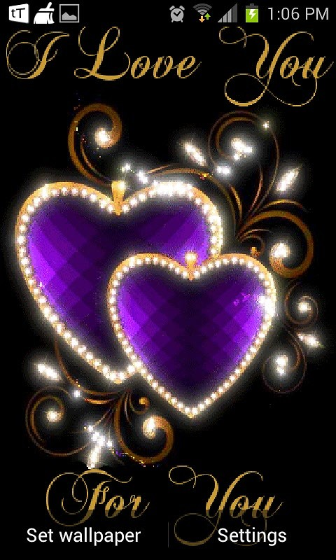 Shiny Heart Live Wallpaper Android Live Wallpaper download 480x800