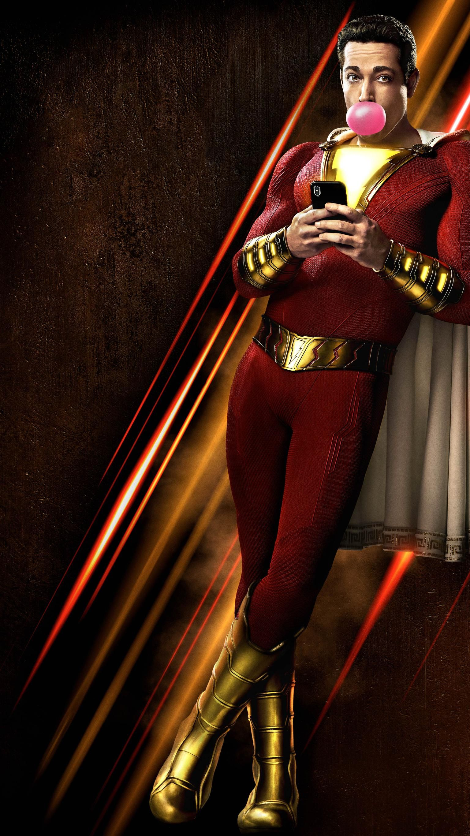 Shazam 2019 Phone Wallpaper Phone Wallpapers Shazam movie 1536x2732
