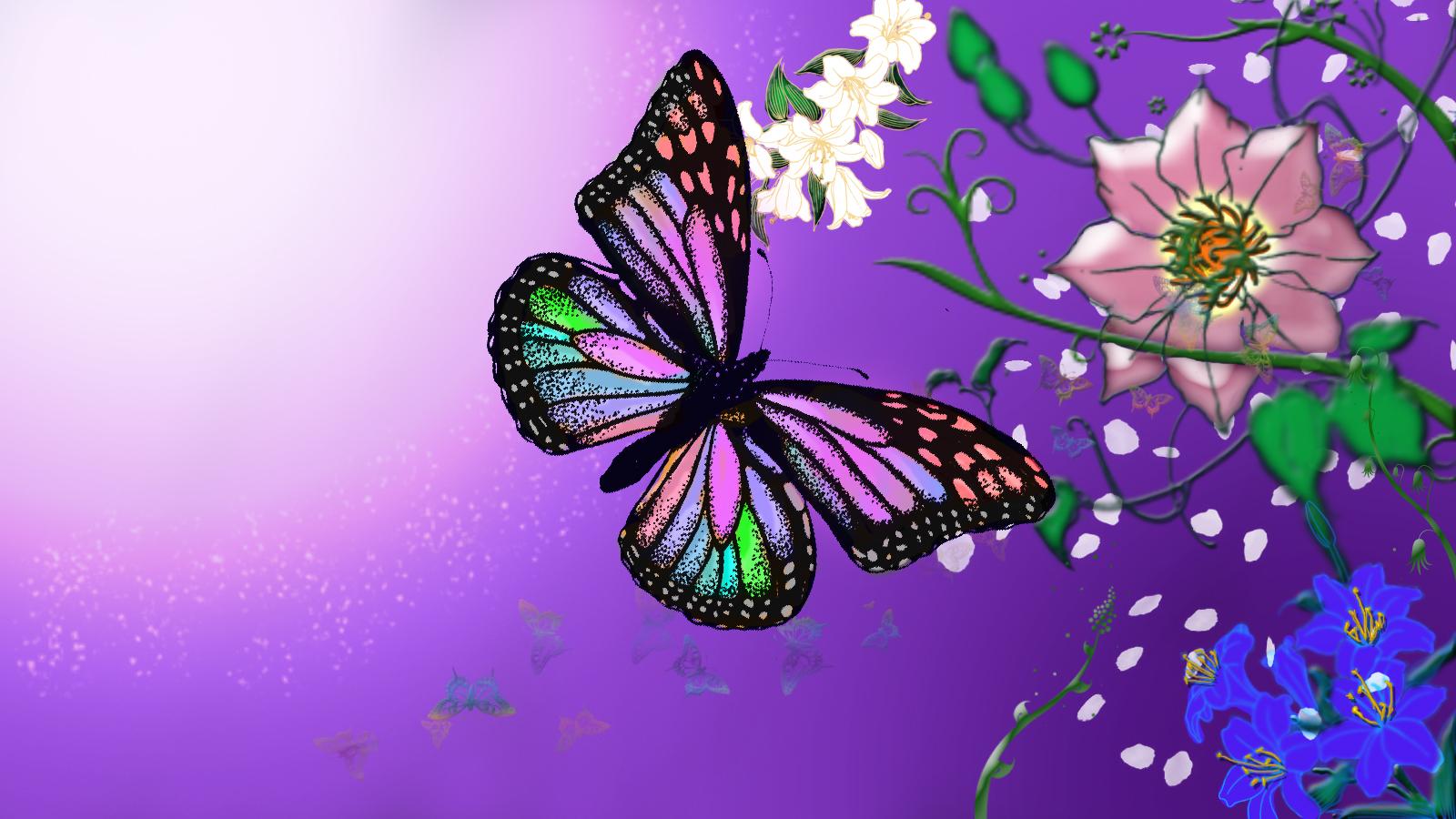 Purple butterfly wallpaper - photo#43