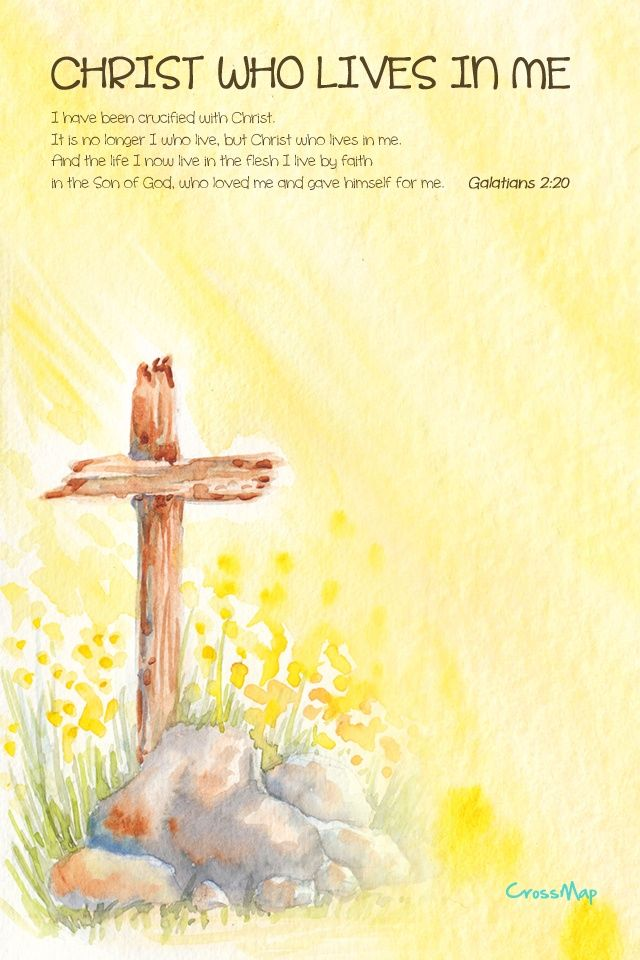 Christ Who Lives in Me Christian Painting Crossmap Christian 640x960