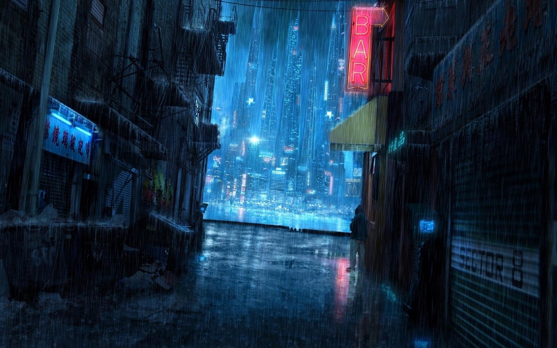 Download Cyberpunk city wallpaper 1920x1200