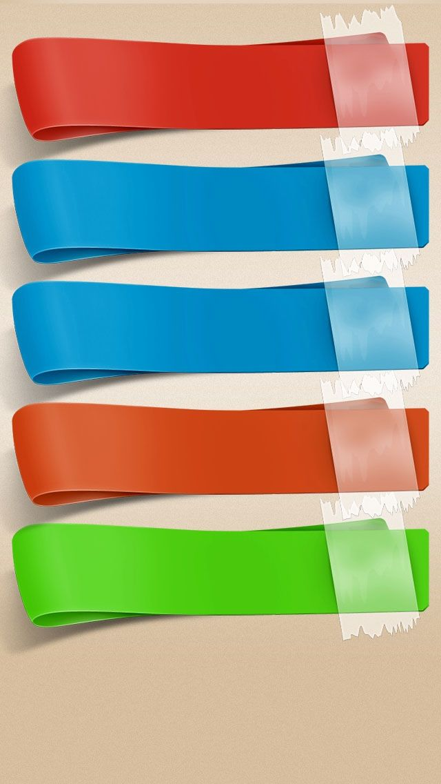 iPhone 5 Ribbon Shelves Colors homescreen wallpaper httpm9mygo 640x1136