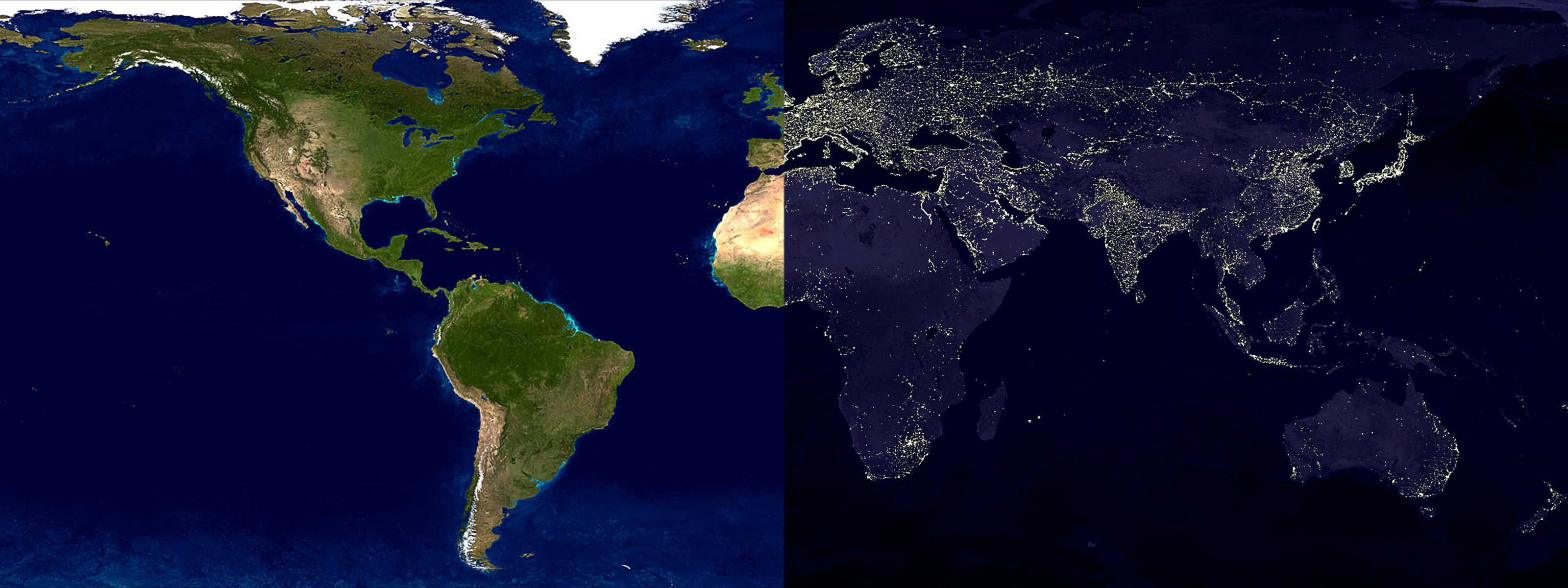 Diagram Album Day And Night World Map Wallpaper - Millions ...