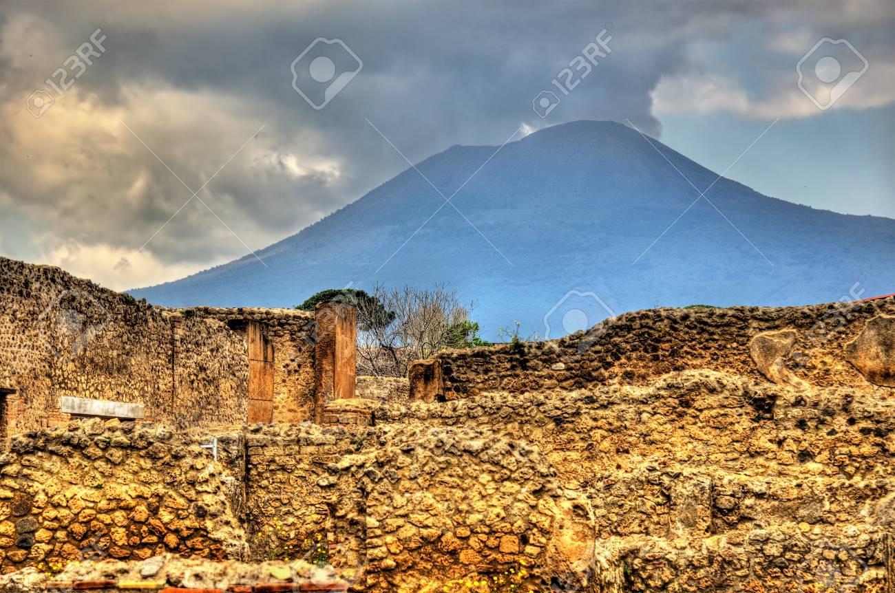Ruins Of Pompeii With Mount Vesuvius In The Background   Italy 1300x862