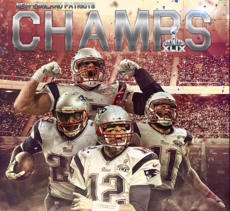 New England Patriots Super Bowl XLIX Champions   Boston Sports Then 750x689