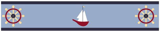 Kids Nautical Wallpaper Border for Boys Room or Nursery 610x125