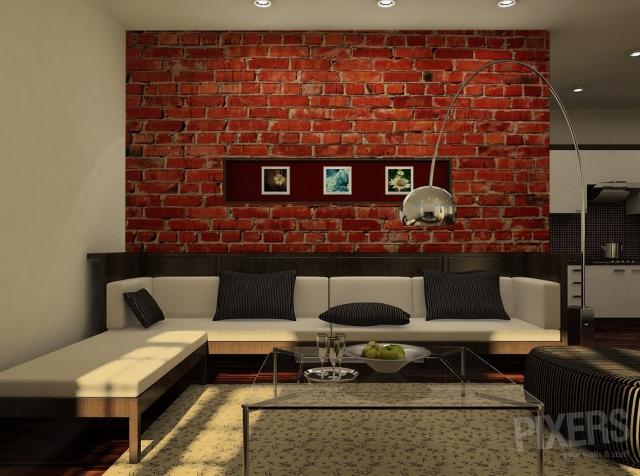 Brick Wallpaper For Living Room Wallpapersafari