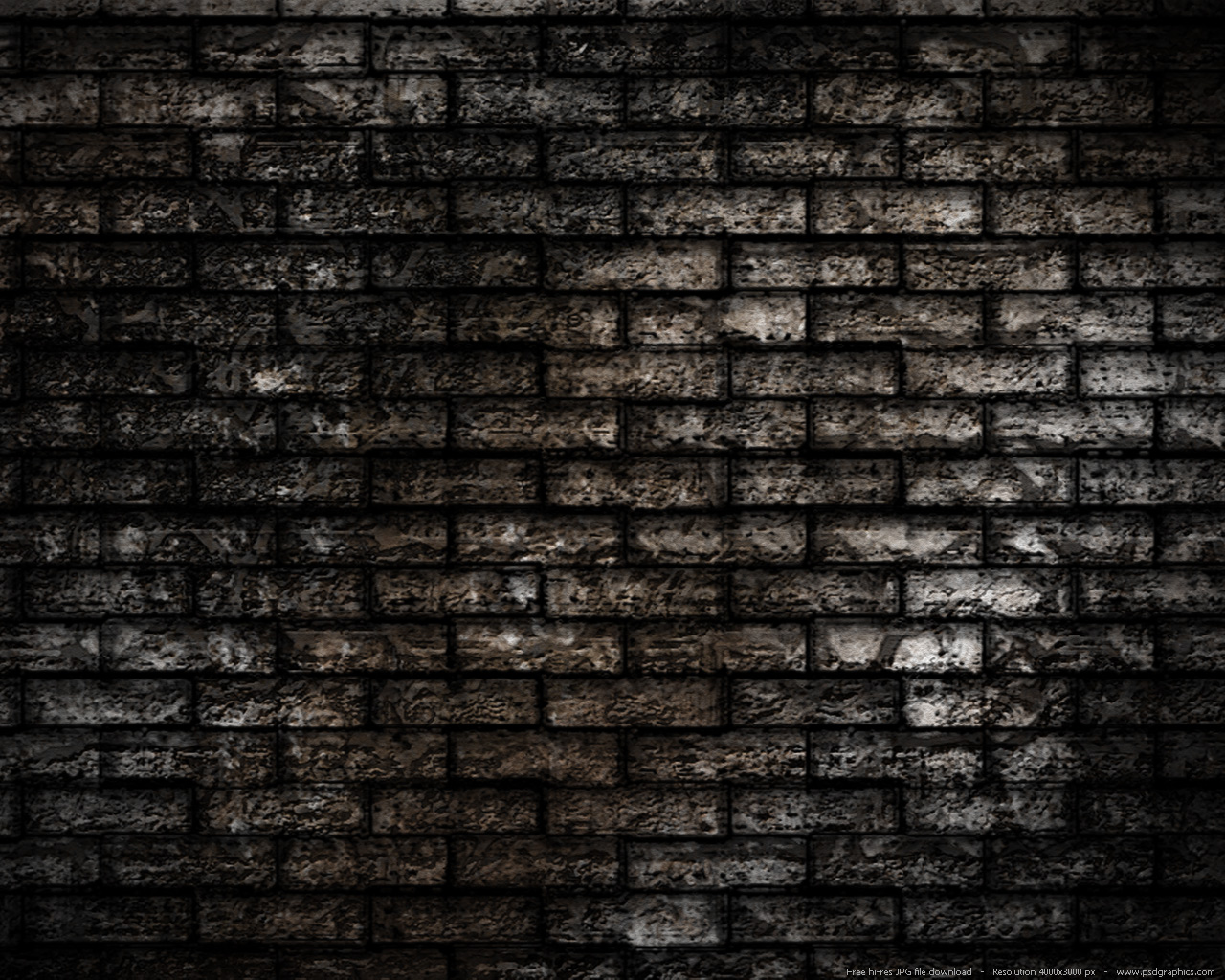 Large preview 1280x1024px Grunge brick wall background 1280x1024