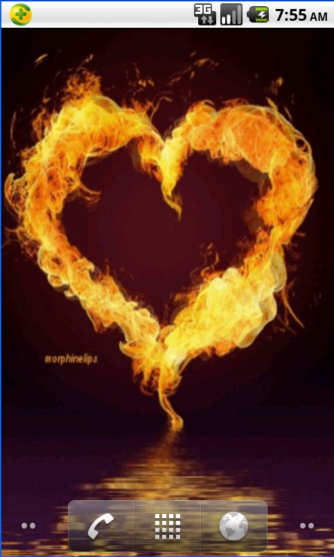 Heart Of Fire Live Wallpaper android live wallpaper 482x803