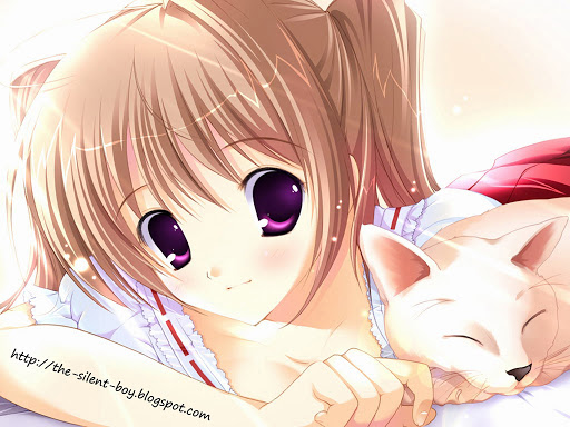 The Silent Boy Cute Anime Girl   Wallpaper Pack 512x384