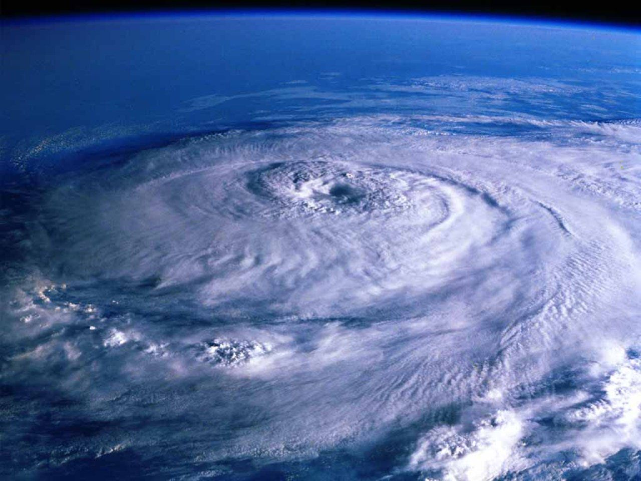 Cyclone over Earth   view from Space Space Views Computer 1280x960